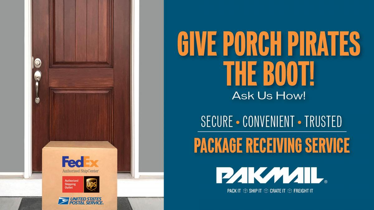 Package Receiving at Pak Mail
