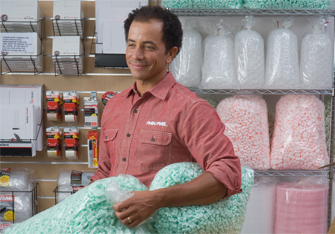 Recycle Packing Peanuts and Loose Fill at Pak Mail | Part of the Peanut Hotline