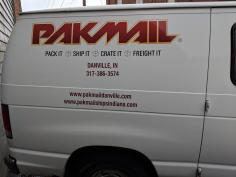 Pak Mail branded van